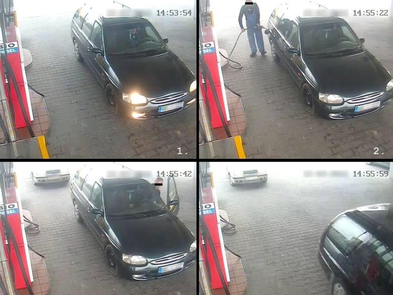Kierowca escorta, który ukradł paliwo z jednej ze strzeleckich stacji benzynowych, wpadł, bo kierownik stacji rozpoznał jego auto na zdjęciu po kołp