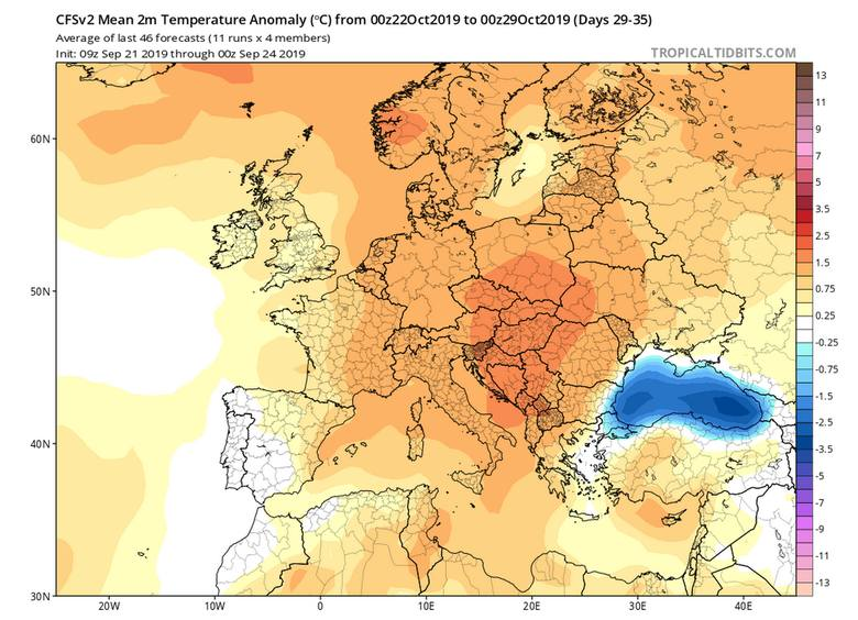 Pogoda na październik 2019: długoterminowa prognoza pogody. Czeka nas śnieg i mróz na horyzoncie? Koniec złotej, polskiej jesieni?