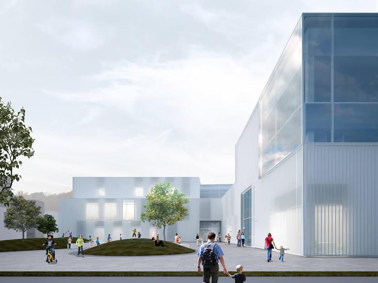 Absolwent politechniki w Poznaniu, Marcin Adamczyk, stworzył projekt szpitala pediatrycznego przy ul. Spornej. Zdaniem architekta istniejący obiekt przy