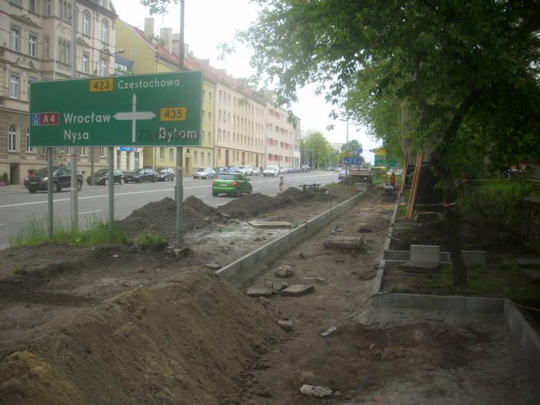 Trwa budowa ścieżek rowerowych w Opolu.