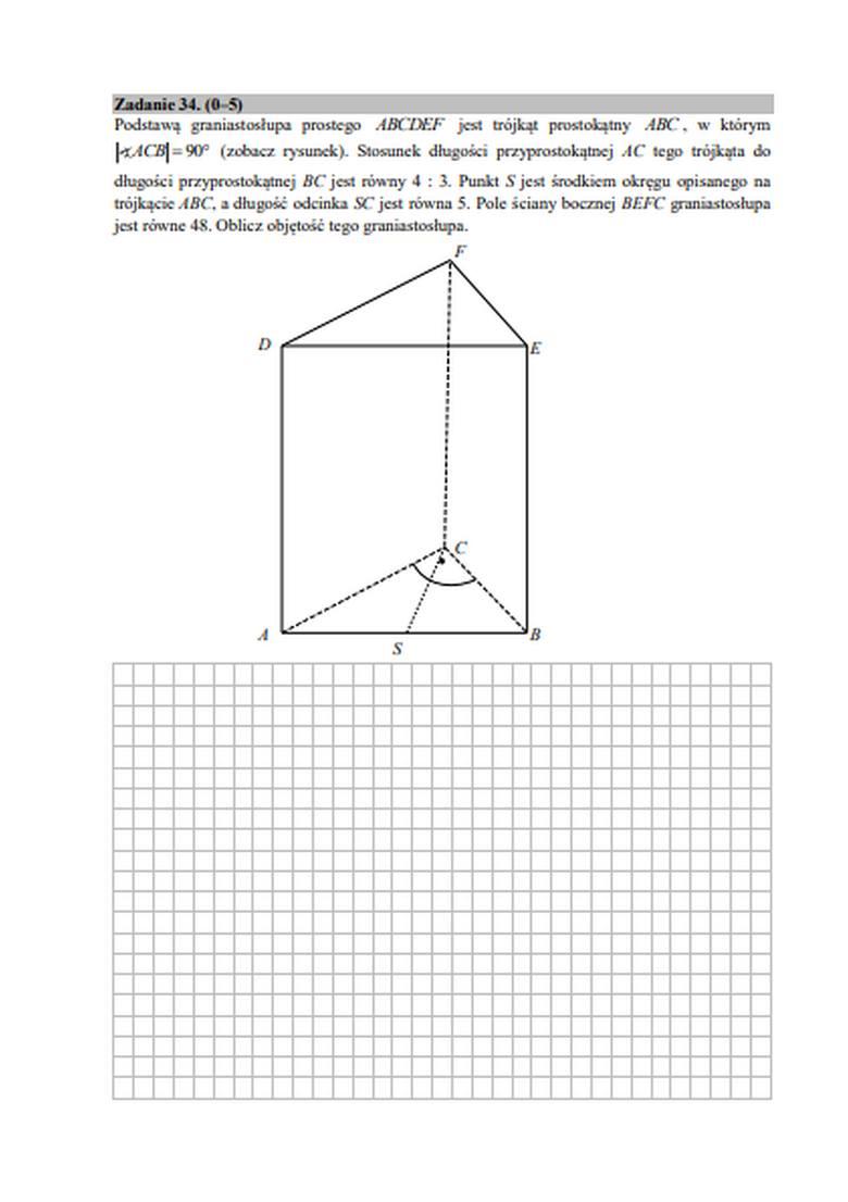 Zadania z matematyki - matura 2020 - matura próbna - ZOBACZ