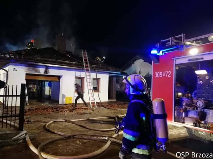 Pożar domu w Kobylarni pod Bydgoszczą [zdjęcia]