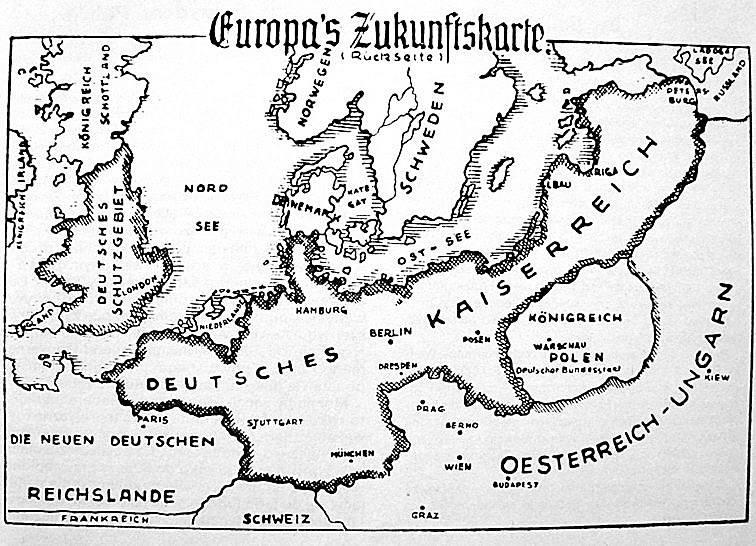 Satyryczna mapa pogrążonej w wojnie Europy, 1915 r.