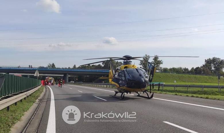 Niedziela: wypadek na A4 przy węźle Skawina.