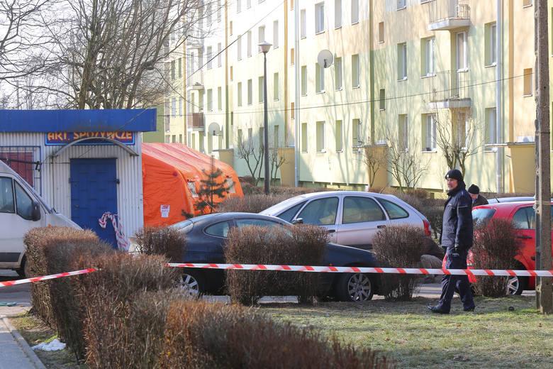 Do nocnej strzelaniny doszło na parkingu przyblokowym na ul. Rembowskiego w centrum Zgierza
