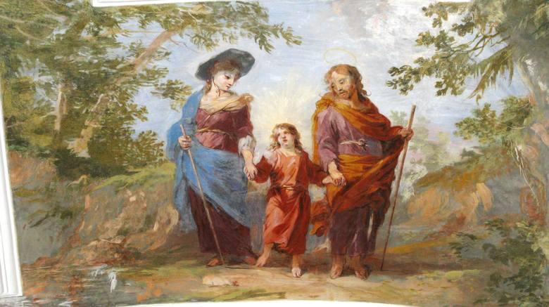 Krzeszów, kościół św. Józefa. Święta Rodzina według Michaela Leopolda Willmana