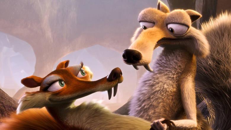 """""""Epoko lodowcowa III - Era dinozaurów""""Jedna z najbardziej przebojowych animacji kinowych. Zwierzaki z epoki lodowcowej - mamut Maniek,"""