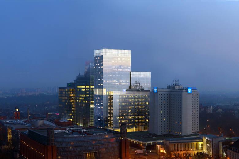 """26-kondygnacyjny budynek biurowo-usługowo-mieszkalny """"Silver"""" dostał zielone światło. Powstanie na placu Andersa obok kompleksu hoteli"""