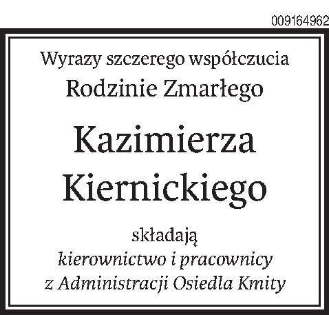 Nekrologi i kondolencje z dnia 17 czerwiec 2019 roku