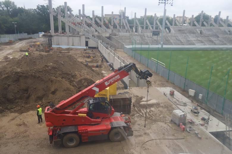 Stadion przy al. Unii rośnie! Zobaczcie świeże zdjęcia z budowy, zrobione dosłownie przed chwilą!