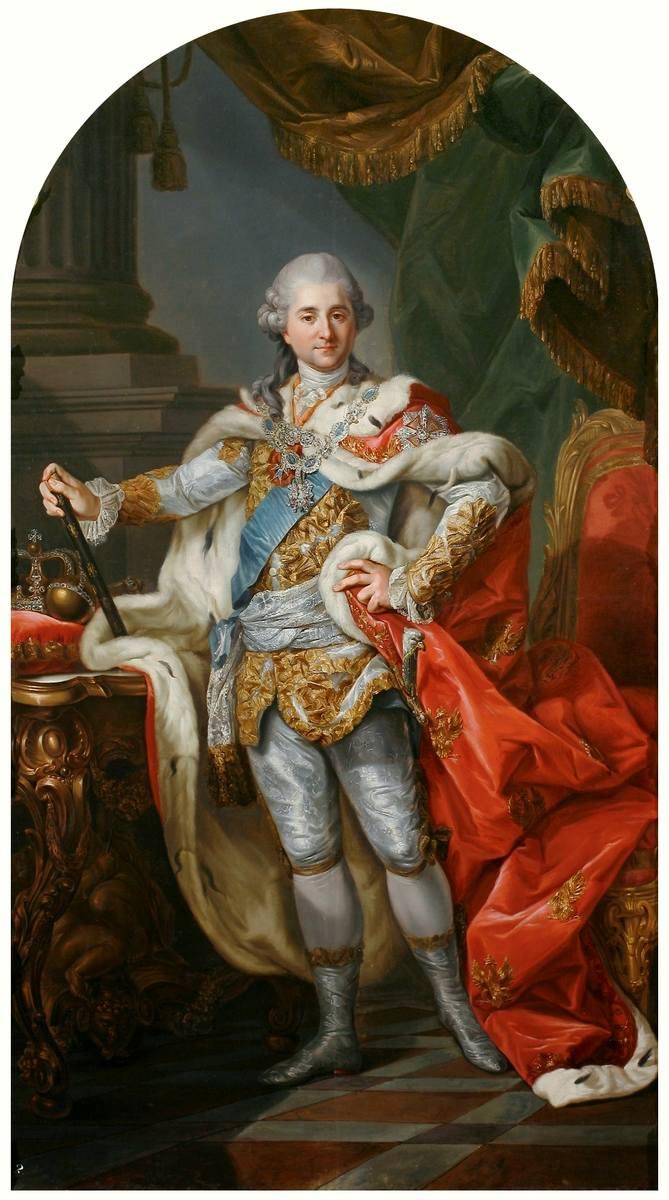 Ostatni król Polski – Stanisław August Poniatowski, który nie spoczął na Wawelu (obraz Marcello Bacciarellego)