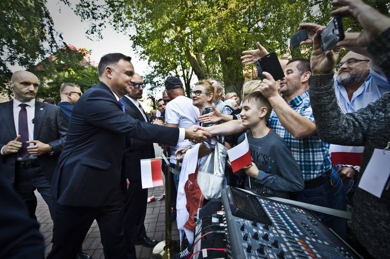 Prezydent Andrzej Duda odwiedził Koszalin, Sianów i Zieleniewo [ZDJĘCIA, WIDEO]