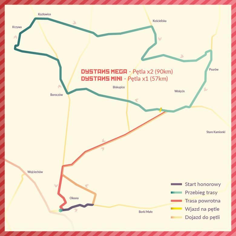 I Maraton Szosowy Szlakiem Czerwonych Róż w Oleśnie