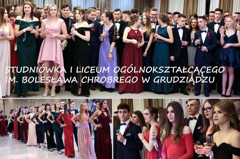 """W hotelu 'Rudnik"""" maturzyści z czterech klas I """"ogólniaka"""" z Grudziądza bawili się na tradycyjnej studniówce. Toast wygłosiła"""