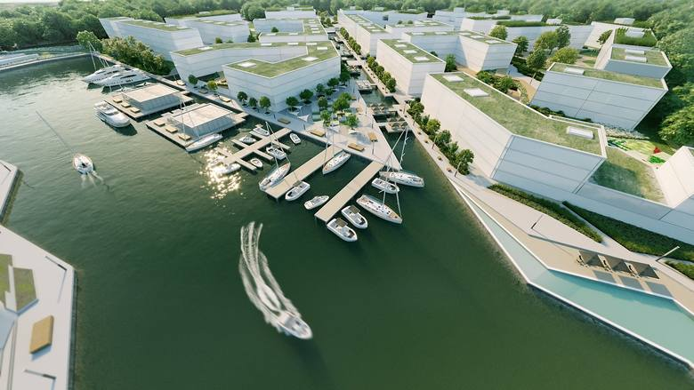W miejscu stoczni w Płaszowie planowana jest budowa osiedla budynków wraz z portem dla jachtów i łodzi motorowych.