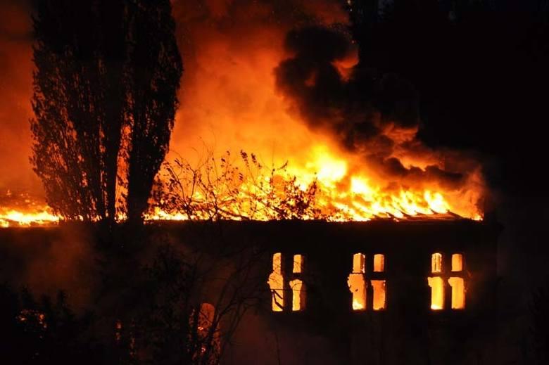 Pożar w byłych zakładach Unionteksu