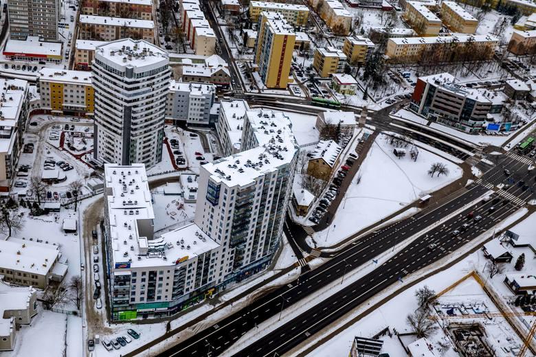 Tak wygląda zima w Białymstoku [zdjęcia z lotu ptaka]