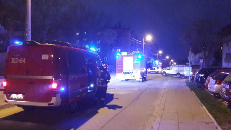 Miłośnik Bojar Karol Halicki podczas wieczornego spaceru po dzielnicy był świadkiem akcji straży pożarnej.