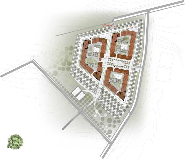 Projekt Nowego Nikiszowca, osiedla, które ma powstać przy ulicy Górniczego Dorobku w Katowicach w ramach programu Mieszkanie Plus