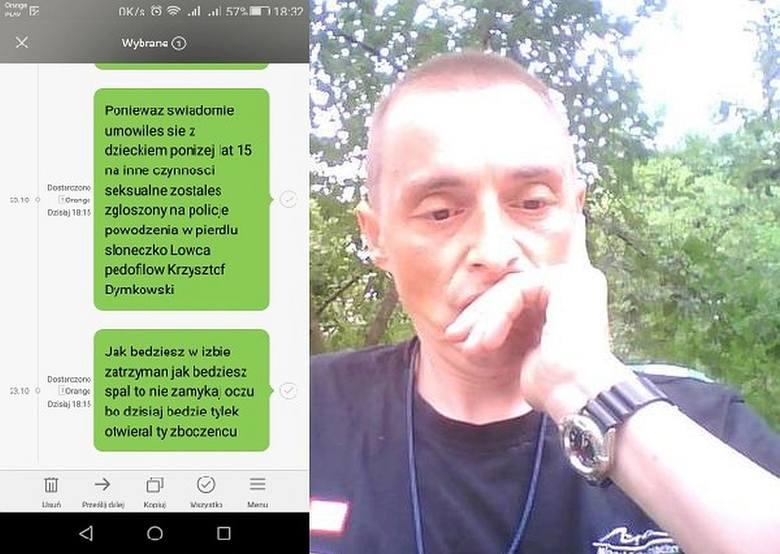Łowca Pedofilów Krzysztof Dymkowski (na zdjęciu) namierzył mieszkańca okolic Hajnówki, który umówił się z czternastolatką na płatny seks. Policja zatrzymała