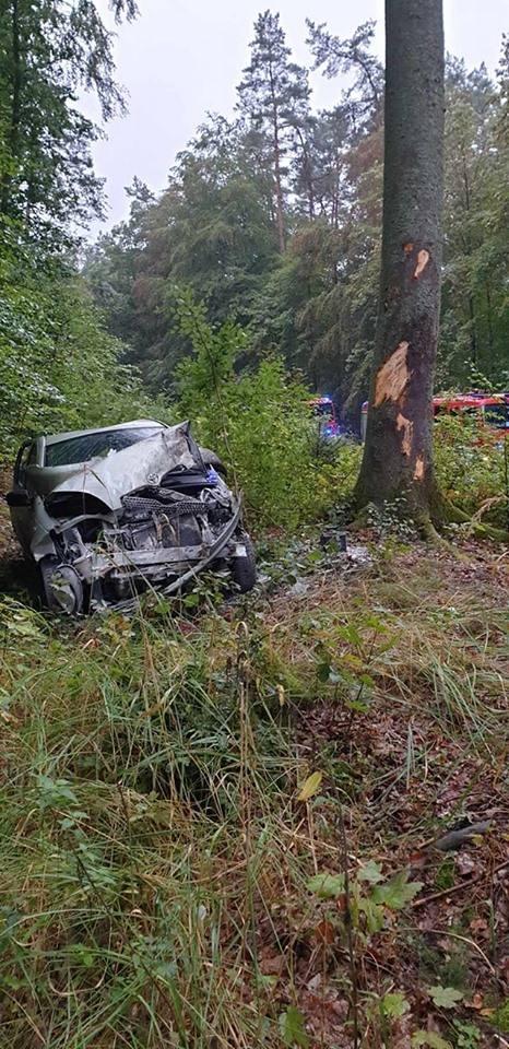 W niedzielę do groźnie wyglądającego wypadku doszło na trasie Złocieniec-Siecino. Samochód osobowy wypadł z drogi i uderzył w drzewo. Kierowca pojazdu