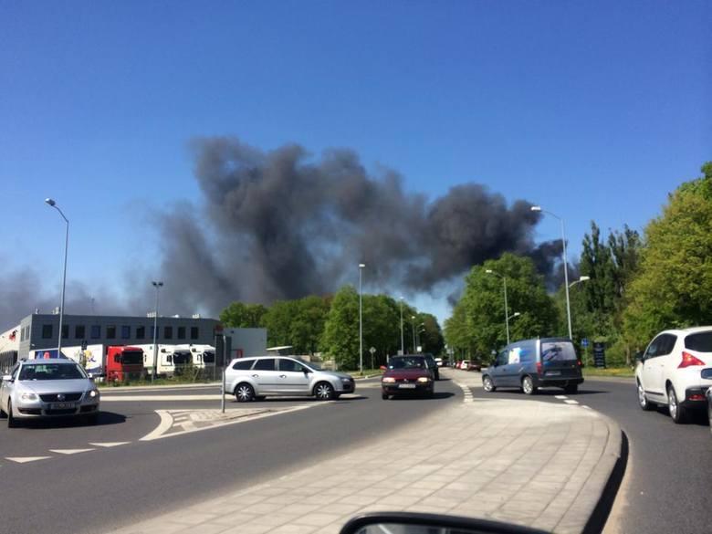 Pożar na ul. Pomorskiej w Szczecinie