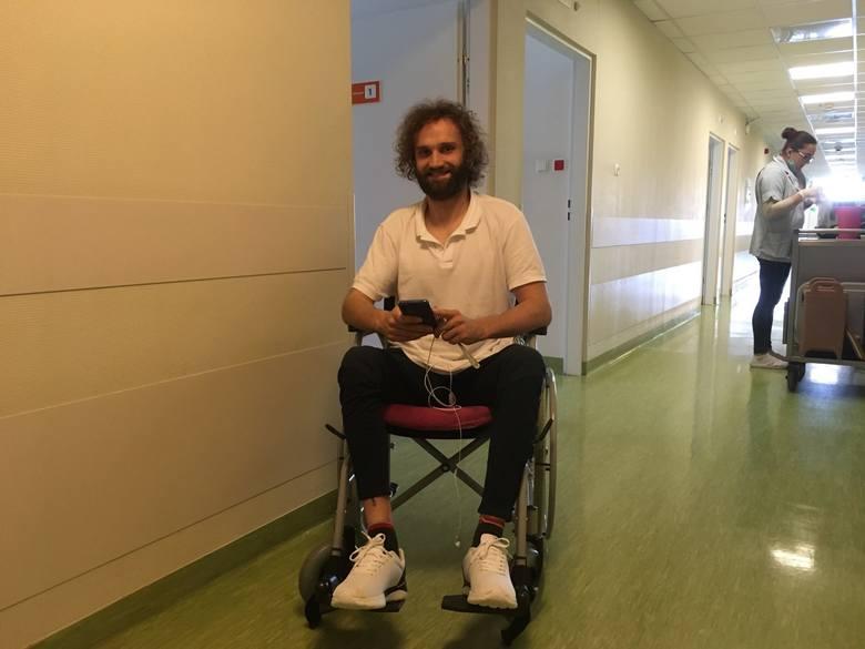 Łukasz Talar stoczył już walkę z nowotworem. Dziś toczy kolejną, by stanąć na nogi
