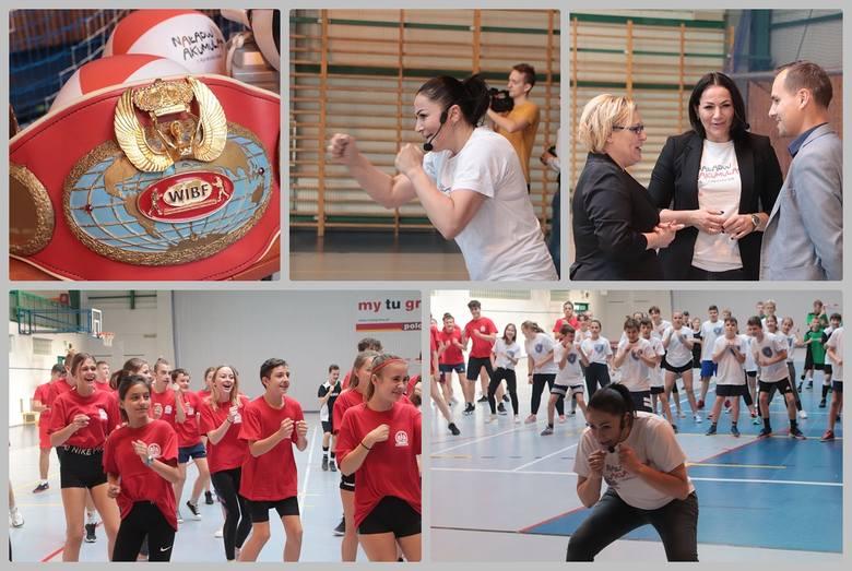 Gościem uczniów szkół włocławskich była Agnieszka Rylik, mistrzyni świata w boksie zawodowym. Poprowadziła lekcję ekologii połączoną z WF-em pod hasłem