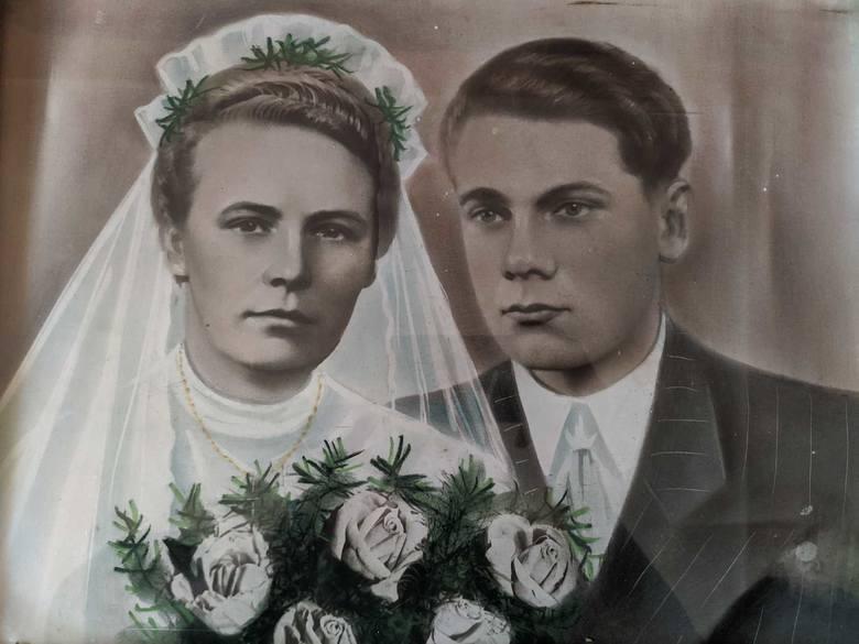 Stanisław Figiel - portret ślubny z żona Zofią