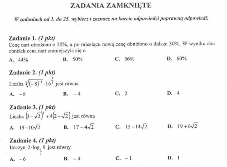Zadania z podstawowej matury z matematyki 2012. Zadania z podstawowej matury z matematyki 2012. Arkusze za: Matura 2012 z matematyki. Odpowiedzi i arkusz