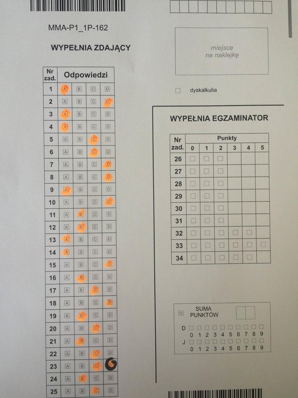 klucz odpowiedzi matura 2018 matematyka