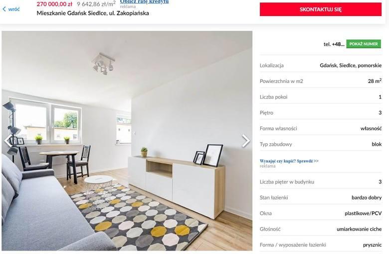Mieszkania na sprzedaż w Gdańsku do 300 tysięcy złotych. Jaką mają powierzchnię i czy są w dobrej lokalizacji? Ogłoszenia na gratka.pl