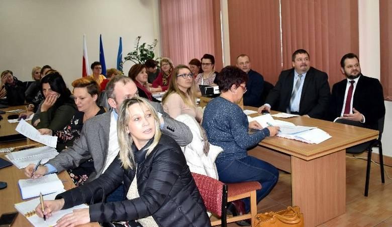 Spotkanie w starostwie z przedstawicielkami kół gospodyń wiejskich z powiatu.