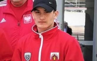 Młody pięściarz Ilman Didaev (MKS Start Grudziądz)