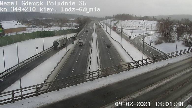 Sytuacja na drogach Pomorza we wtorek, 9.02.2021 r. >>>