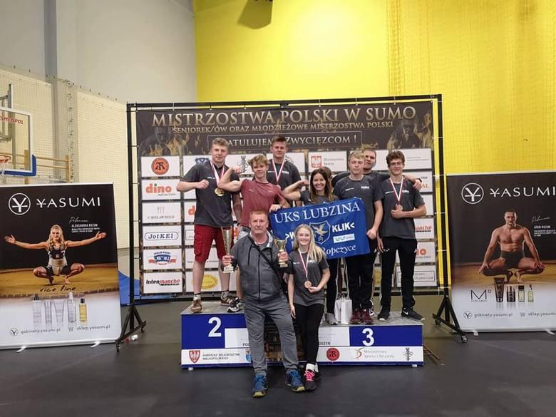 Sukcesy indywidualne i drużynowe SUMO Lubzina na Mistrzostwach Polski w Sumo
