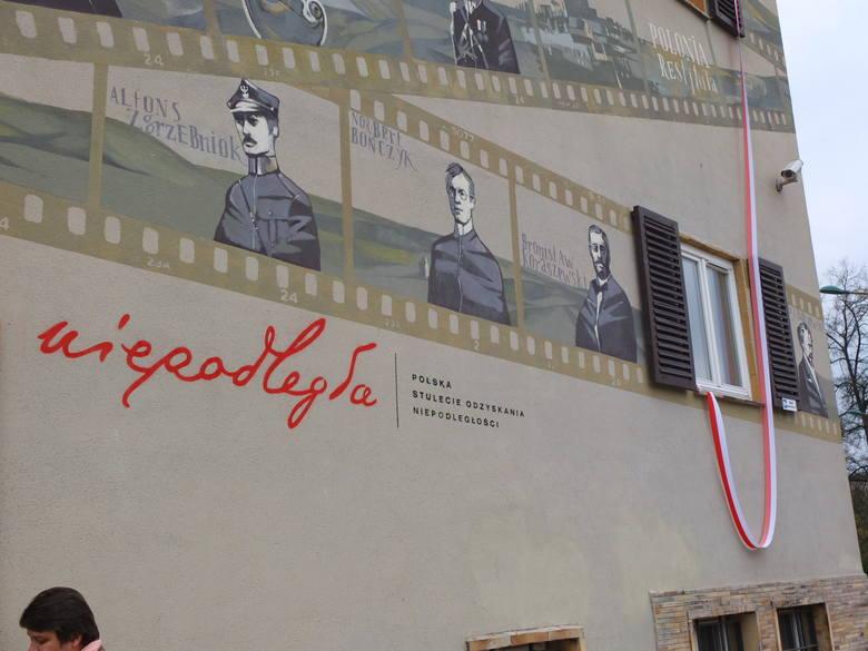 Niezwyk y mural na urz dzie wojew dzkim w opolu z okazju for Mural na tamie w solinie