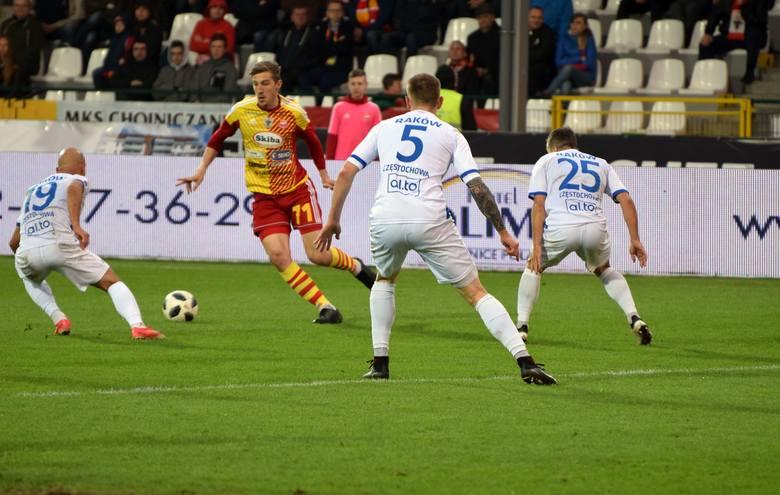 Chojniczanka przegrała na swoim boisku z Rakowem 0:1. Na gola kibice czekali długo, bo aż do 83. minuty, gdy dla częstochowian zdobył go Jose Embalo.