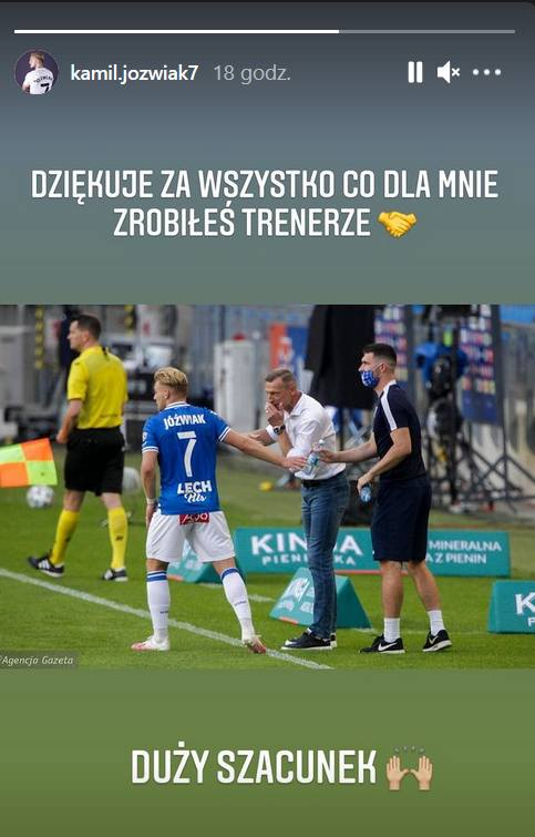 Dariusz Żuraw otrzymał podziękowania od młodych piłkarzy Lecha Poznań