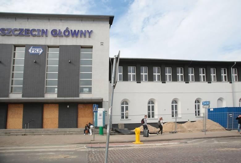 Trwa remont dworca PKP w Szczecinie.