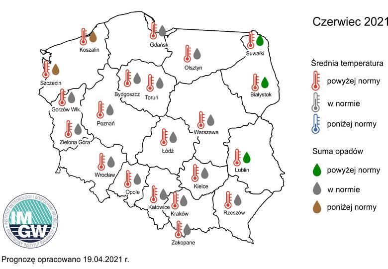 Sprawdź szczegółowe dane pogodowe od IMGW na czerwiec, lipiec i sierpień