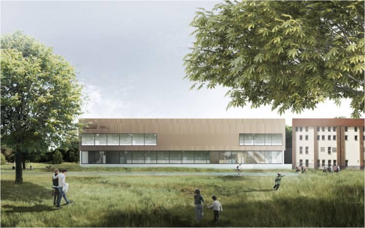 Budowa nowego basenu na osiedlu Tatrzańskim w Fordonie nabiera tempa. Basen przy ul. Kromera zaprojektowano jako obiekt o charakterze parku wodnego.