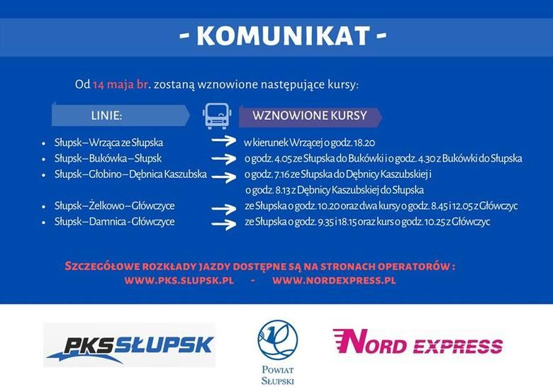 Powiat słupski uruchamia kolejne połączenia autobusowe. Jest to odpowiedź na postulaty mieszkańców, którzy mają problem z dojazdem do pracy