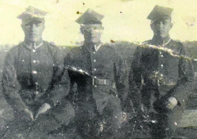 Od lewej Ryszard, Stanisław i Edmund, dzieci pani Romany.
