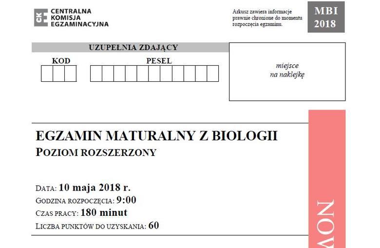 Matura 2018 biologia, poziom rozszerzony [arkusze, odpowiedzi]