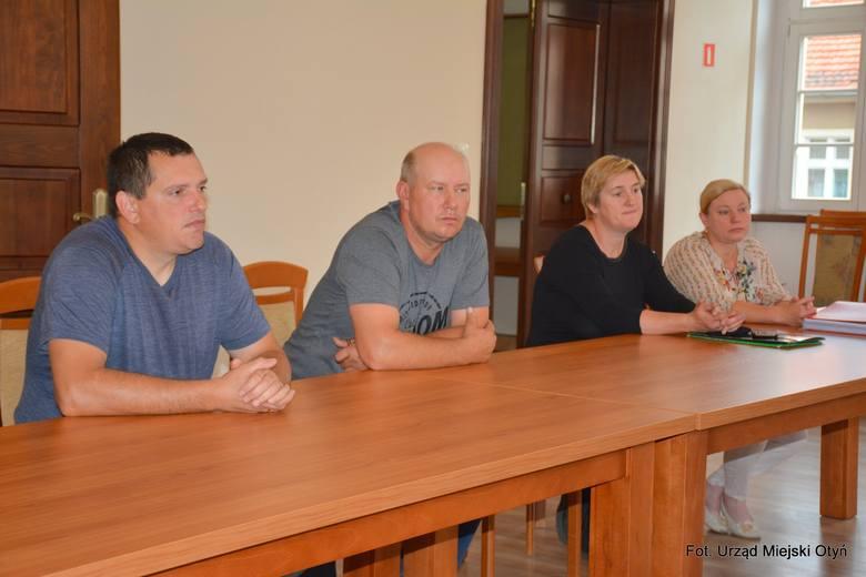 Spotkanie burmistrz Otynia z rolnikami z gminy.