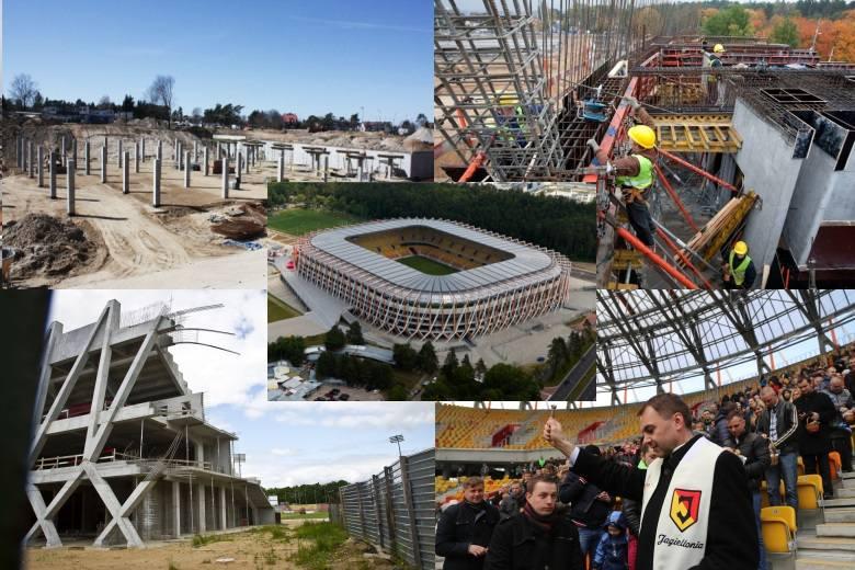 To jedna z największych inwestycji w województwie podlaskim. Zobaczcie, jak powstawał Stadion Miejski w Białymstoku, na którym mecze rozgrywa Jagiellonia.