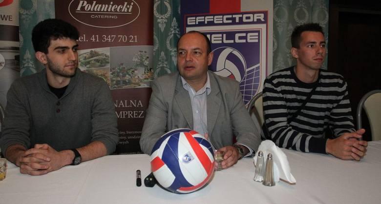 Od lewej Marcin Janusz, prezes Jacek Sęk i Jędrzej Maćkowiak.