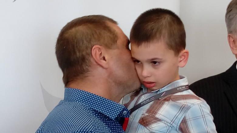 Andriej Sirowatskyi z Dmytrem (wołają na niego Dima)
