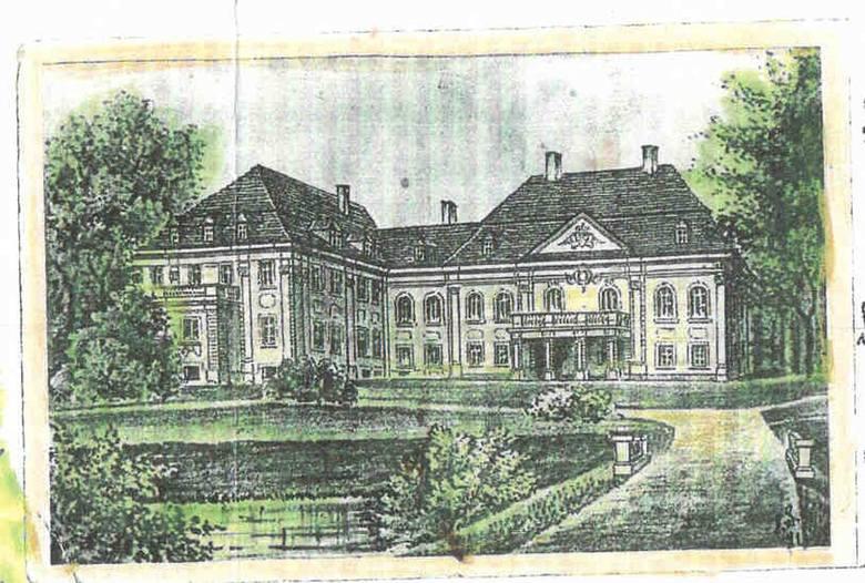 Pałac von Studnitzów na litografii.